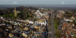 Screenshot of the Pinnacle property website homepage