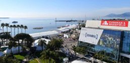 Aerial photograph of the Cannes MIPIM festival area