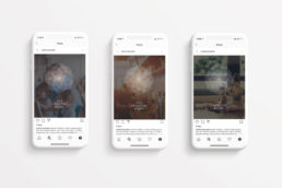 Image of Croxted Road instagram adverts on 3 mobile phone screens