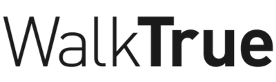 walktrue text logo black