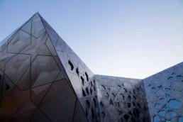 Kuwait Cultural Centre photo at twilight