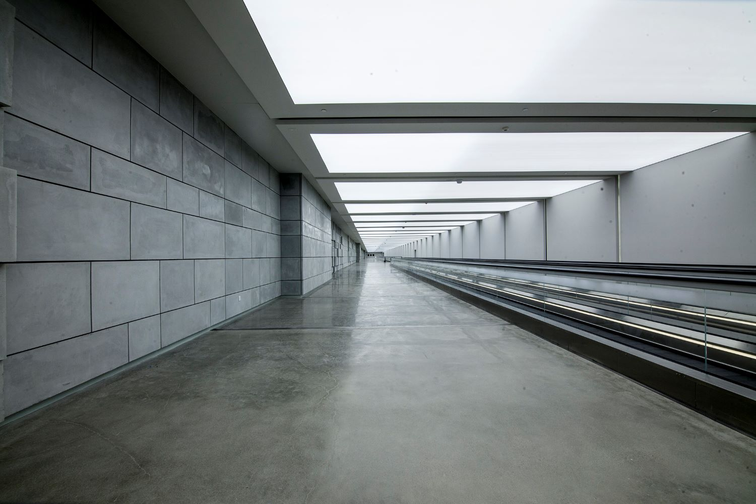 Kuwait Cultural Centre walkway with moving walkways