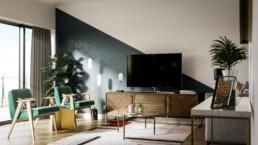 York Road Development CGI Living Room