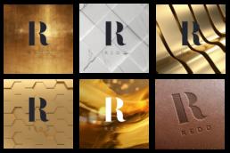 REDD concept logo on various materials