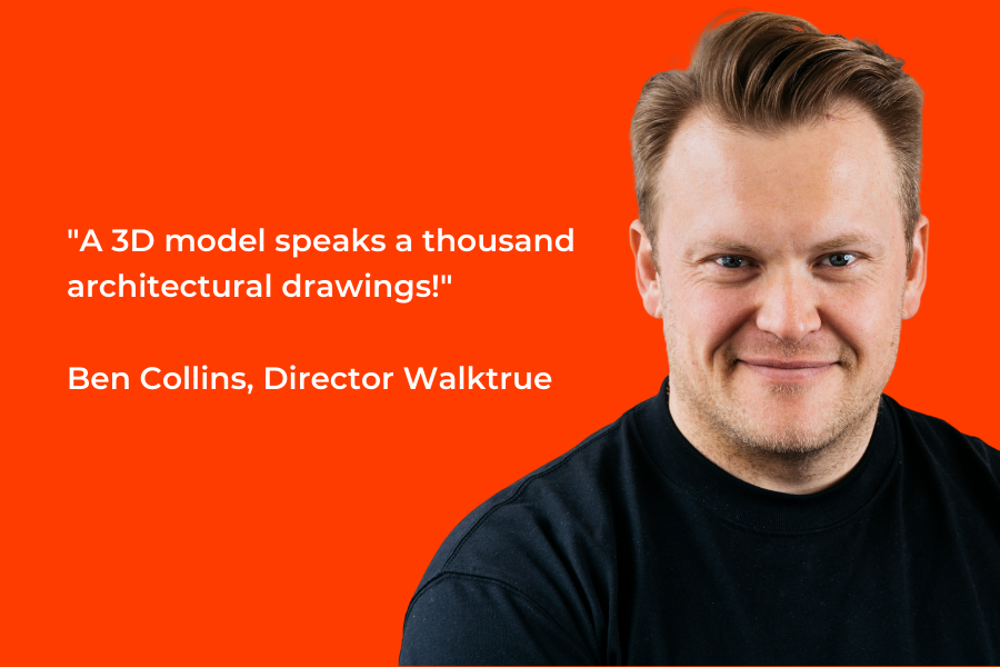 """""""A 3D model speaks a thousand architectural drawings!"""" Ben Collins quote on one of the benefits of 3D modeling."""